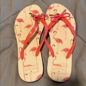 Kate spade flamingo women's flip flops